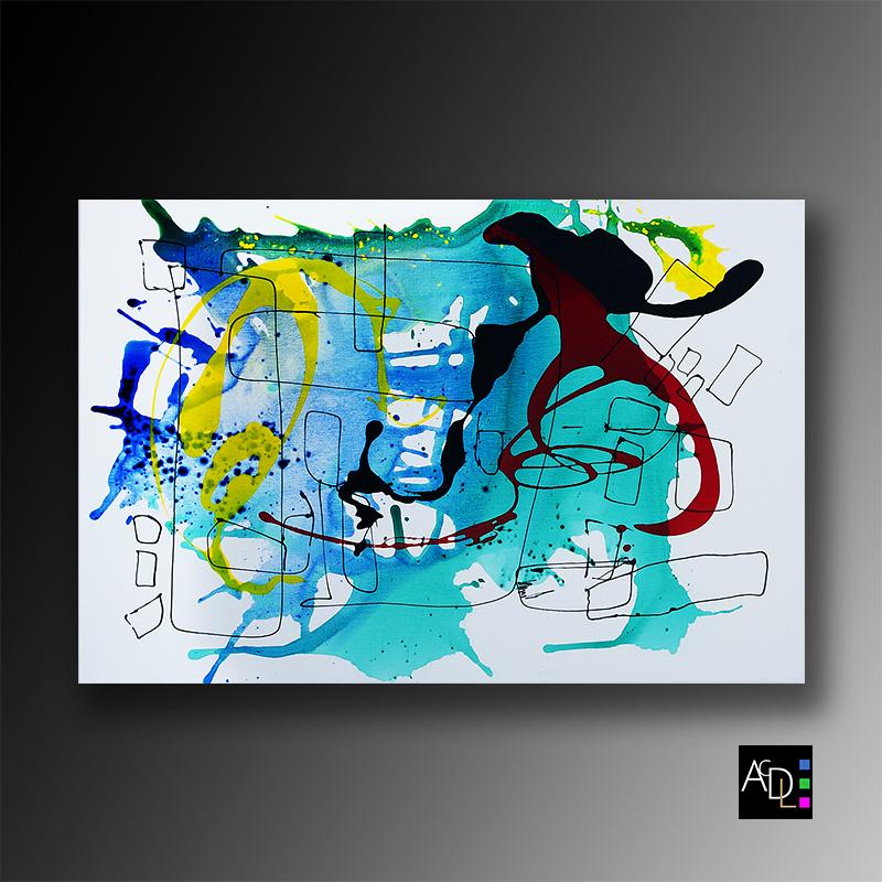 S'inspirer des autres artistes, tableau abstrait annecy